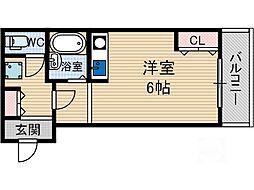 フローラ茨木[1階]の間取り