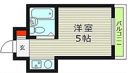 シャトー京橋[4階]の間取り