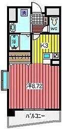 埼玉県蕨市南町3丁目の賃貸マンションの間取り