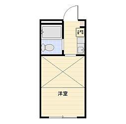 アリス行田第3号館[203号室]の間取り