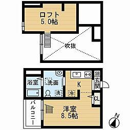 愛知県名古屋市瑞穂区田光町3丁目の賃貸アパートの間取り