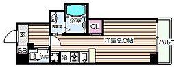 アリオーラ西梅田[4階]の間取り