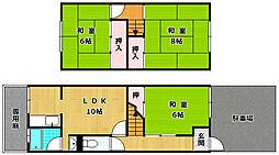 [テラスハウス] 大阪府枚方市村野本町 の賃貸【/】の間取り