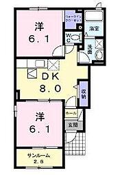 カーズB[1階]の間取り