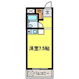 ドムス千代田 馬酔木館[201号室]の間取り