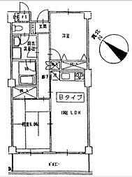 リブラ[3ーB号室]の間取り