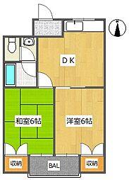 ハムロハイツ杉田A棟[1階]の間取り