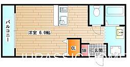 大阪府堺市堺区香ヶ丘町1丁の賃貸アパートの間取り