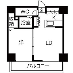 AMSタワー中島[1902号室]の間取り