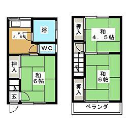 伊深アパート(西)[1階]の間取り