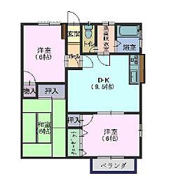 タウンハウス平恒2[2−1号室]の間取り