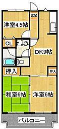 セイハ二俣[3階]の間取り