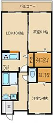 シャーメゾン紺屋[2階]の間取り