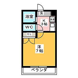 西岡崎フロイデ[1階]の間取り