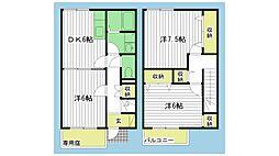 [テラスハウス] 兵庫県小野市西本町 の賃貸【兵庫県 / 小野市】の間取り