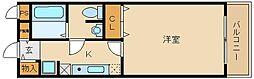 近鉄南大阪線 藤井寺駅 徒歩2分の賃貸マンション 4階1Kの間取り