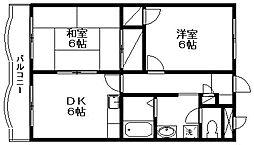 新潟県新潟市西区小針4丁目の賃貸マンションの間取り