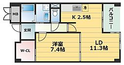 マレ ドゥ カルム[4階]の間取り