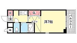 兵庫県神戸市東灘区本山中町3丁目の賃貸マンションの間取り