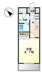 KOKOMO[203号室]の間取り