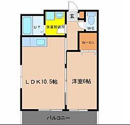 トピカヒル[2階]の間取り