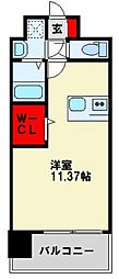 Legend113 6階ワンルームの間取り