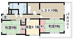 ラクラッシィ社ヶ丘[1階]の間取り