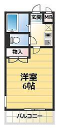 神奈川県厚木市水引2丁目の賃貸アパートの間取り