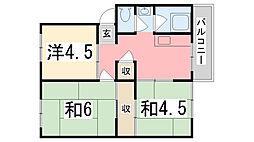 兵庫県姫路市市川台3丁目の賃貸マンションの間取り