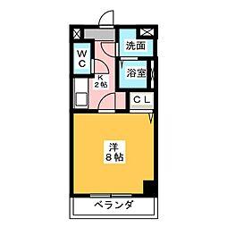 神領ステーションビル[4階]の間取り
