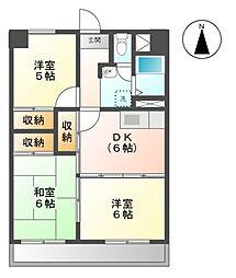 愛知県名古屋市天白区原5の賃貸マンションの間取り
