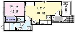 ラ・エルヴィータ[1階]の間取り