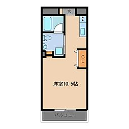 KECマンション[1階]の間取り