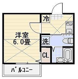 オーシャンドリーム桜山[301号室]の間取り