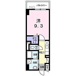 新潟県新潟市中央区万代2丁目の賃貸マンションの間取り
