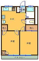 東栄ハイツビル[303号室]の間取り