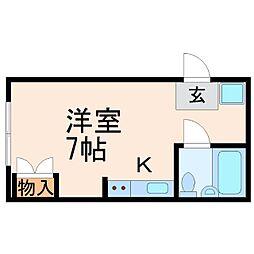 カッシーナ甲子園[2階]の間取り