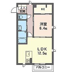 仮称 見川町シャーメゾン A[2階]の間取り
