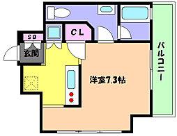 兵庫県神戸市東灘区深江北町3の賃貸マンションの間取り
