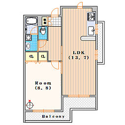 エル・セレーノ九条[3階]の間取り