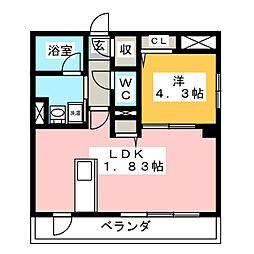 I's岐阜駅前 3階1LDKの間取り