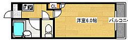 シャルマンフジ堺市弐番館[1階]の間取り
