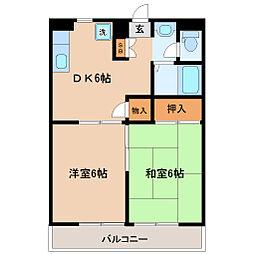 メゾン ソフィア[1階]の間取り