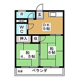 ニューコーポ矢野[2階]の間取り