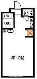 サンケイマンション第8ビル[412号室]の間取り