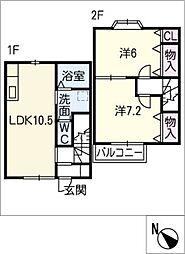 [タウンハウス] 三重県鈴鹿市長太旭町3丁目 の賃貸【/】の間取り
