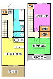 [テラスハウス] 東京都練馬区大泉学園町4丁目 の賃貸【東京都 / 練馬区】の間取り
