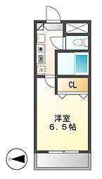 セントラルホーム千早[2階]の間取り