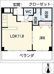 コ−ト・メディオン[2階]の間取り