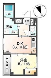 (仮)パーソナル祇園[1階]の間取り